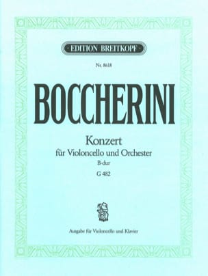 BOCCHERINI - Cello Concerto, B flat major - Sheet Music - di-arezzo.com