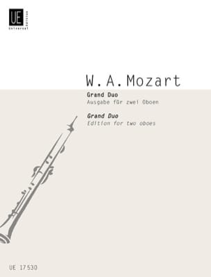 MOZART - Grand Duo – 2 Oboen - Partition - di-arezzo.fr