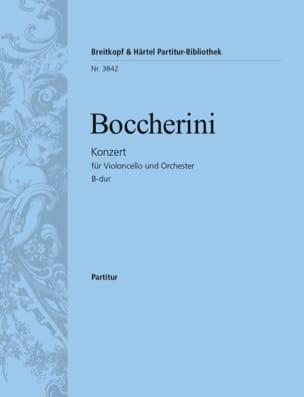 Luigi Boccherini - Violoncello-Konzert B-Dur – Conducteur - Partition - di-arezzo.fr