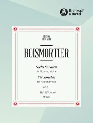 BOISMORTIER - 6 Sonaten op. 51 Volume 1 - Flute and Violin - Sheet Music - di-arezzo.com