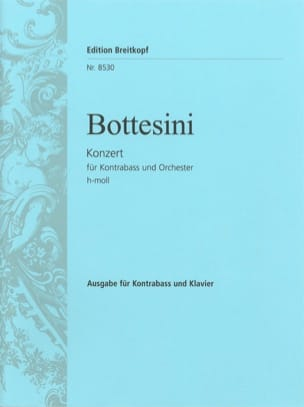Giovanni Bottesini - Concerto in B minor – Double bass - Partition - di-arezzo.fr
