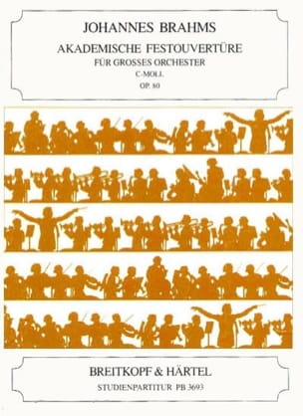 BRAHMS - Akademische Festouvertüre C-Moll Op.80 - Partition - di-arezzo.fr