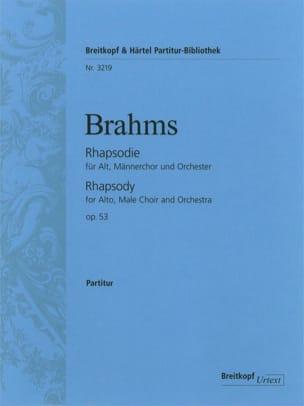 BRAHMS - Alt-Rhapsodie, Opus 53 - Partition - di-arezzo.fr