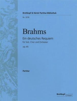 Un Requiem Allemand op. 45 - Conducteur BRAHMS Partition laflutedepan