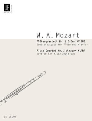 Wolfgang Amadeus Mozart - Flötenquartett Nr. 1 D-Hard KV 285 - Flöten Klavier - Sheet Music - di-arezzo.co.uk