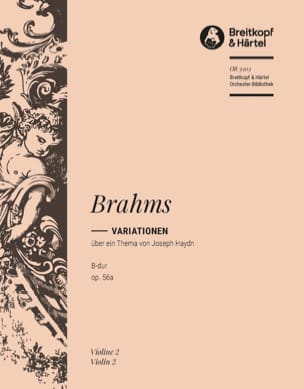 Johannes Brahms - Haydn-Variationen B-Dur op. 56a - Partition - di-arezzo.fr
