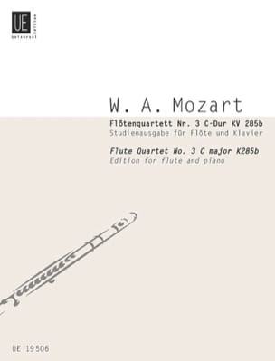 MOZART - Flötenquartett Nr. 3 C-Dur KV 285b -Flöte Klavier - Partition - di-arezzo.fr