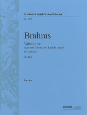 BRAHMS - Variationen über ein Thema von J. Haydn op. 56a - Sheet Music - di-arezzo.co.uk
