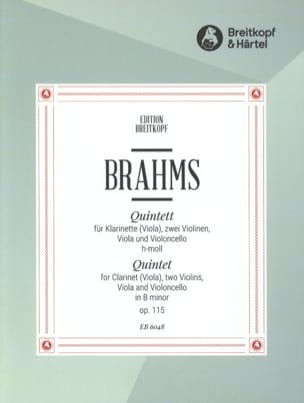 BRAHMS - Quintett h-moll op. 115 - Klarinette Viola 2 Violin Viola Cello - Stimmen - Sheet Music - di-arezzo.co.uk