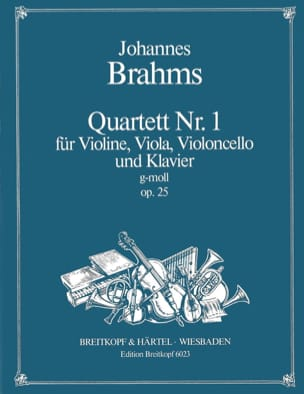 Klavierquartett Nr. 1 g-moll op. 25 -Stimmen BRAHMS laflutedepan