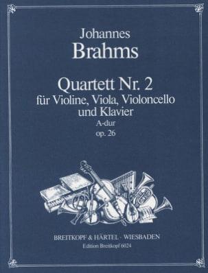Johannes Brahms - Klavierquartett Nr. 2 A-Dur op. 26 –Stimmen - Partition - di-arezzo.fr