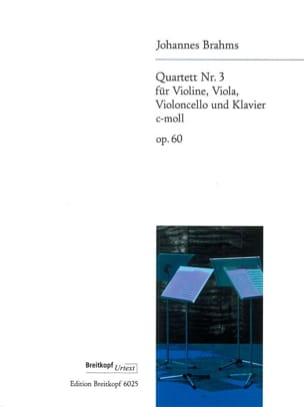 Klavierquartett Nr. 3 c-moll op. 60 BRAHMS Partition laflutedepan