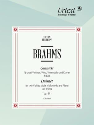 BRAHMS - Klavierquintett in f-moll op. 34 -Stimmen - Partition - di-arezzo.fr