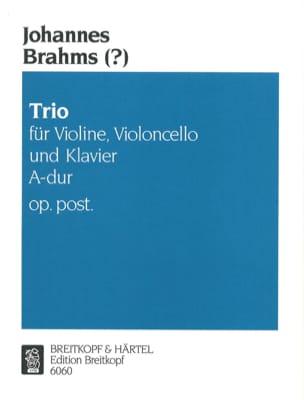 Johannes (?) Brahms - Klaviertrio A-Dur op. post. –Stimmen - Partition - di-arezzo.fr