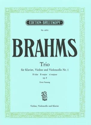 BRAHMS - Klaviertrio Nr. 1 H-Dur op. 8 (1. Fassung) -Stimmen - Partition - di-arezzo.fr