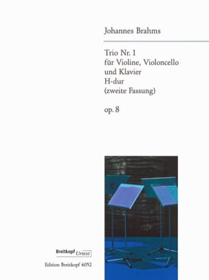 BRAHMS - Klaviertrio Nr. 1 H-Dur op. 8 2. Fassung -Stimmen - Partition - di-arezzo.fr