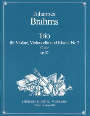 BRAHMS - Klaviertrio Nr. 2 C-Dur, Opus 87 - stimmen - Partition - di-arezzo.co.uk
