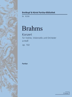 BRAHMS - Konzert f Violine, Violoncello a-moll op. 102 - Sheet Music - di-arezzo.co.uk