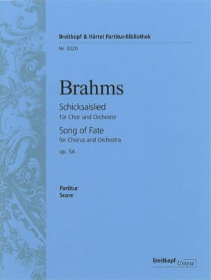 BRAHMS - Schicksalslied op. 54 - Partition - di-arezzo.fr