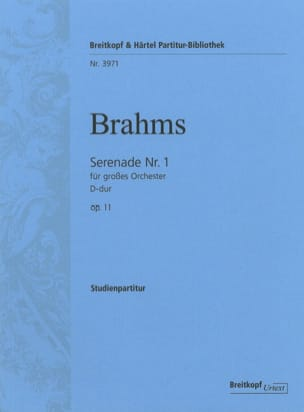 BRAHMS - Serenade Nr. 1 D-Dur Opus 11 - Sheet Music - di-arezzo.co.uk