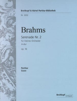 Johannes Brahms - Serenade, Nr. 2 A-dur op. 16 - Partition - di-arezzo.fr