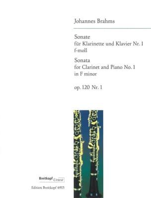 BRAHMS - Sonata Nr. 1 f-moll op. 120/1 - Klarinette Klavier - Partitura - di-arezzo.es