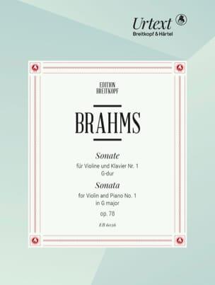 Johannes Brahms - Sonate G-Dur op. 78 - Partition - di-arezzo.fr