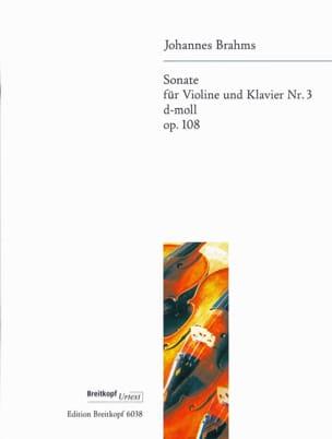 Johannes Brahms - Sonate N° 3 En Ré Min. Op. 108 - Partition - di-arezzo.fr