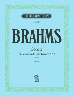 BRAHMS - Sonata No. 2 in F major op. 99 - Sheet Music - di-arezzo.co.uk