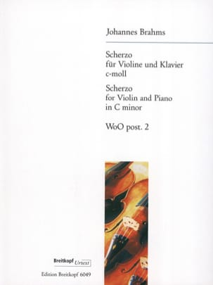 BRAHMS - Scherzo C-Moll, WoO post. 2 - Sheet Music - di-arezzo.co.uk