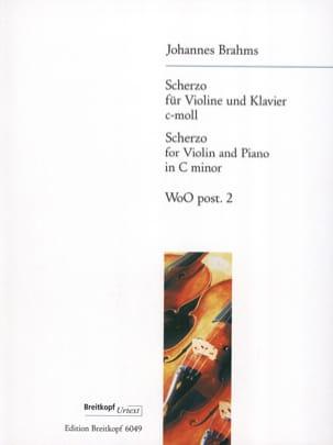 Scherzo C-Moll, WoO post. 2 BRAHMS Partition Violon - laflutedepan