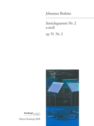 Johannes Brahms - Streichquartett Nr. 2 a-moll op. 51/2 –Stimmen - Partition - di-arezzo.fr