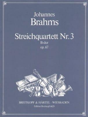 BRAHMS - Streichquartett B-Dur op. 67 -Stimmen - Partition - di-arezzo.fr