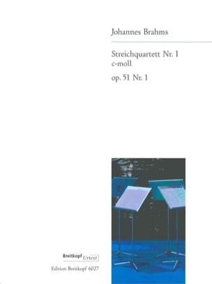 BRAHMS - Streichquartett Nr. 1 c-moll op. 51/1 -Stimmen - Partition - di-arezzo.fr