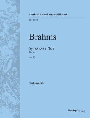 Johannes Brahms - Symphonie N° 2 D-Dur Op. 73 - Partition - di-arezzo.fr