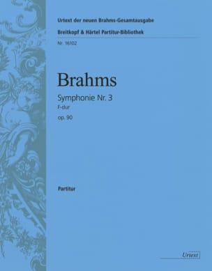BRAHMS - Symphonie N° 3 F-Dur (Fa Maj.), Op. 90 - Conducteur - Partition - di-arezzo.fr