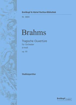 Johannes Brahms - Tragische Ouvertüre D-Moll Op.81 - Partition - di-arezzo.fr