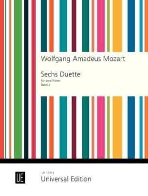MOZART - 6 Duets Volume 2) - 2 Flutes - Partition - di-arezzo.fr
