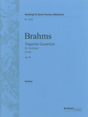 BRAHMS - Tragische Ouverture op. 81 d-moll - Driver - Sheet Music - di-arezzo.co.uk