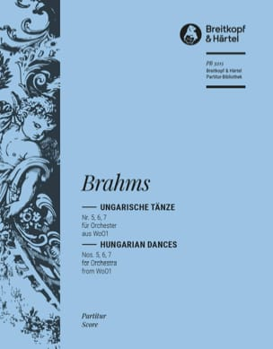 BRAHMS - Ungarische Tänze, Nr. 5, 6, 7 - Orchester - Sheet Music - di-arezzo.co.uk