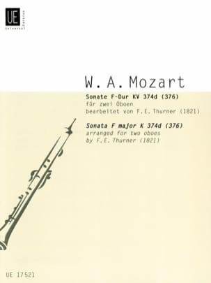 Wolfgang Amadeus Mozart - Sonate F-Dur KV 374d (376) – 2 Oboen - Partition - di-arezzo.fr