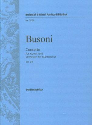 Concerto Opus 39 - Ferruccio Busoni - Partition - laflutedepan.com