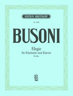 Ferruccio Busoni - Elegie Es-Dur- Klarinette Klavier - Partition - di-arezzo.fr