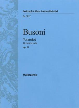 Ferruccio Busoni - Turandot-Suite op. 41 - Sheet Music - di-arezzo.com