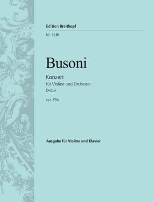 Violin-Konzert D-Dur op. 35a - Ferruccio Busoni - laflutedepan.com