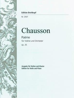 Ernest Chausson - Poème op. 25 - Partition - di-arezzo.fr
