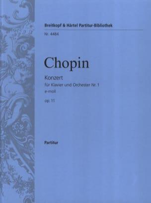 CHOPIN - Klavierkonzert Nr. 1 e-moll op. 11 - Partition - di-arezzo.fr