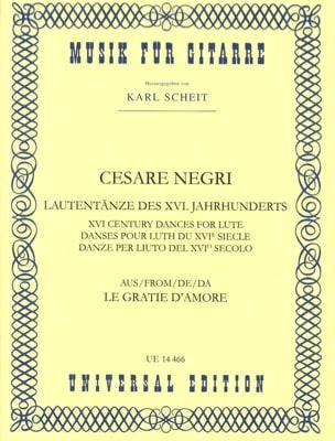 Cesare Negri - Lautentänze des 16. Jahrhunderts - Sheet Music - di-arezzo.com