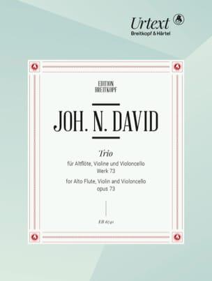 Johann Nepomuk David - Trio, Wk 73 – Altflöte Violine Violoncello - Stimmen - Partition - di-arezzo.fr