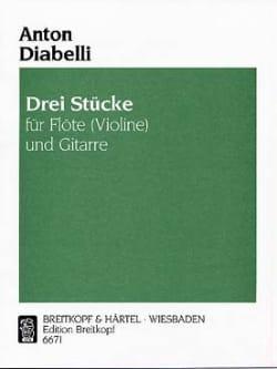 Anton Diabelli - Drei Stücke - Partition - di-arezzo.fr